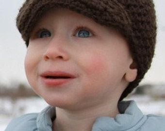 Boys Hat  with Bill Sizes Newborn to Child