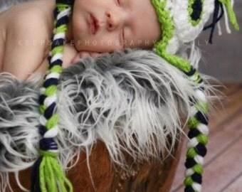 Owl Earflap Hat sizes Newborn-Children