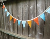 Banner / Garland / Turquoise And Orange Colors