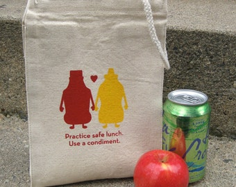 Recycled Cotton Canvas Lunch Bag - Condiments