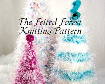 Christmas Trees Knitting Pattern The Felted Forest