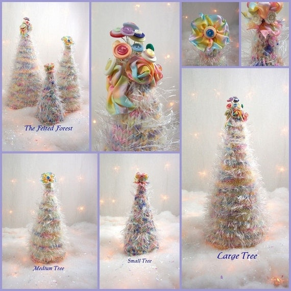 Christmas Trees The Shabby Chic Cottage Felted Forest OOAK