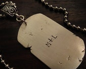 Personalized Dog Tag Necklace Front and Back Trash Metal Collection