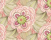 Beauty is You -- Whimsical/Cottage chic Modern Floral Quilt Fabric-- by Blend Fabrics-- 1 Yard of Rainbow Flowers in Pink - meanderingthread