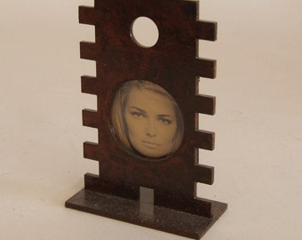 Picture frame - laser cut steel - rust finish