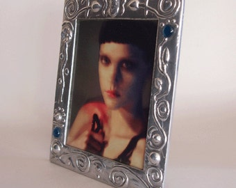 SALE picture frame for 8 x 10 photo - polished aluminium