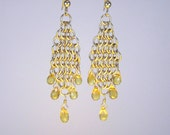 Chainmaille Citrine Earrings