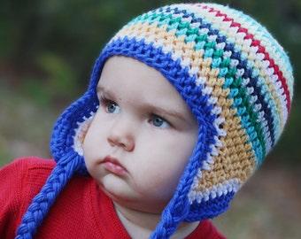 12-24 M - Mason Hat - Bright Colored Stripes