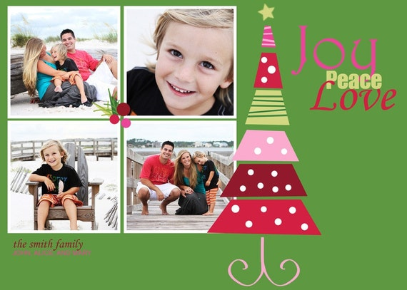 Joyful Christmas 3 of 3 5x7 Christmas Card Template