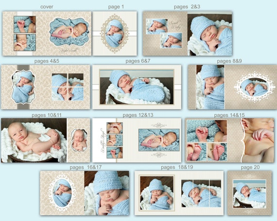 Items similar to INSTANT DOWNLOAD - 10x10 Baby Album template ...