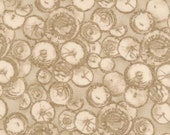 Fat quarter to Yardage // Traditional Print Quilt Fabric // A simpler Time Circles in Tan by Moda // choose your own length // quilt shop
