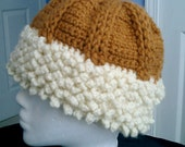 Knitted Hat with Faux Lambswool