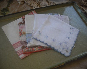 Collection of 5 Vintage Hankies