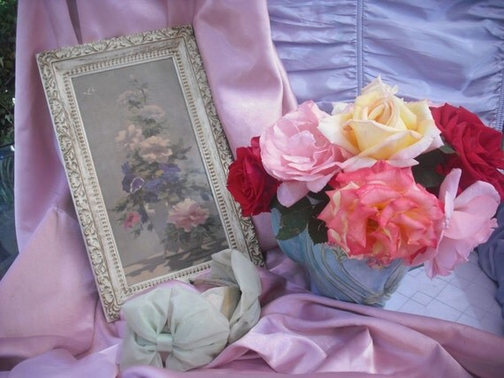 Vintage Shabby Chic Floral Print by Truart
