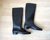 60s Rain Boots/ Sherpa/ Rubber Wellies