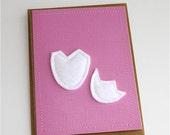 Cracked Egg Applique Easter Card
