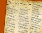 The Lady of Shalott - Tennyson and Waterhouse 10x8 prints