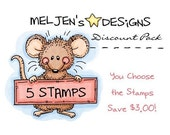 Digital Stamp Discount Pack - 5 Digital Stamps