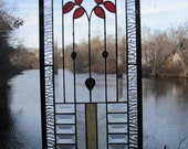 Cottage Style Bevelled Stained Glass Panel