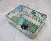 Geometric Stained Glass Box
