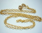 Gold Filled Flat Cable Chain 14 15 or 16 inches finished 2.0 x 1.5mm