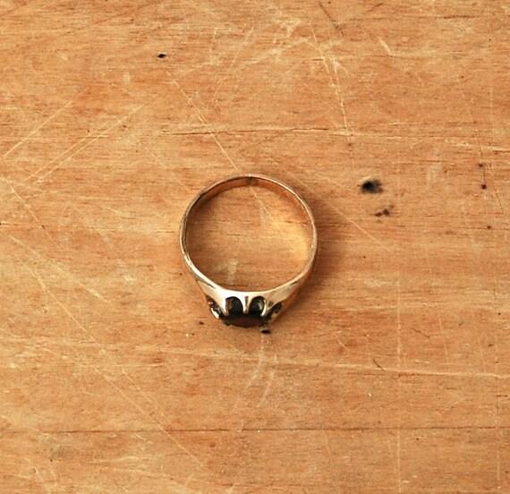 Vintage 1940s Ring - 40s Garnet Ring - The Rosalie