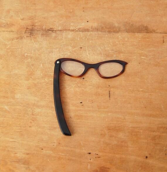 Vintage 1950s Eyeglasses - Fold Up Cateye Glasses - The Babette