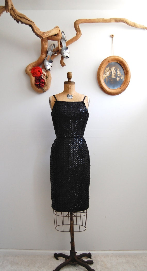 Vintage 1960s Dress - Sequined Cocktail Dress - The Naomi