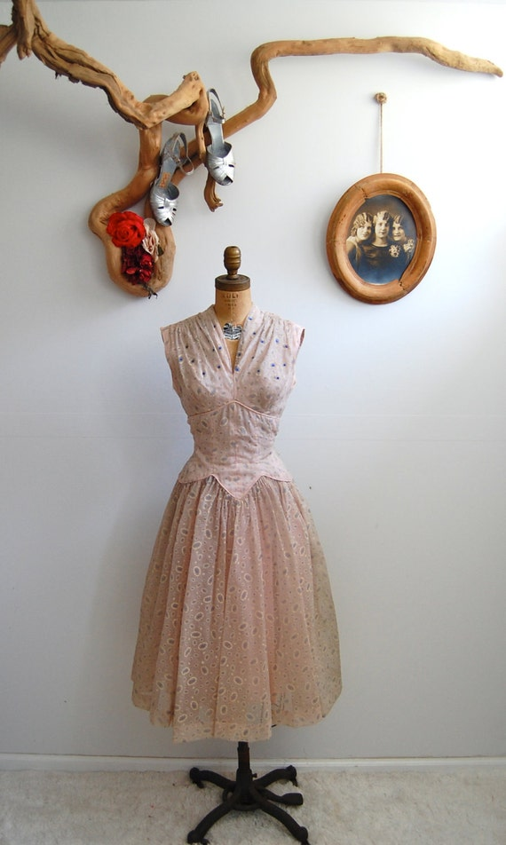 ON HOLD - Vintage 1950s Dress - 50s Cocktail Dress - The Odette