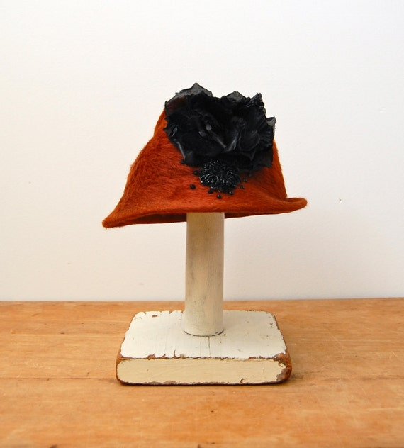 Vintage 1960s Fedora - 60s Mohair Hat - The Leyna