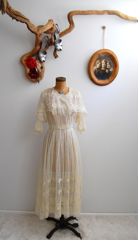 5 0 S A L E Vintage 1910s Wedding Dress Edwardian