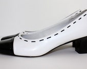 Classic Vintage Black and White Pumps by LifeStride size 7.5 Medium