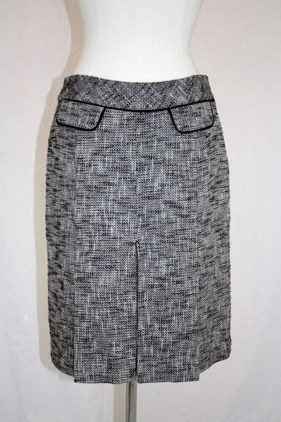 Brown Tweed Skirt Kick Pleats Modern Classic Cute Vintage Retro Hipster