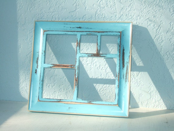 Items Similar To Distressed Turquoise Solid Wood Collage