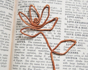 copper lotus bookmark