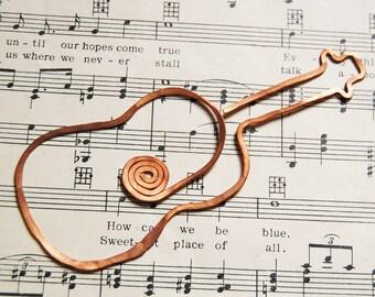 copper guitar bookmark