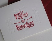 Make Love Not Reservations Card