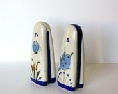 SALE: Ken Edwards Tonala Mexico Ceramic Salt and Pepper Shakers with Birds and Butterflies