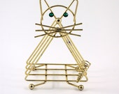 Brass Cat Letter Organizer