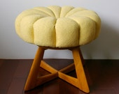 Reserved for REVENANT: Heywood Wakefield Sculptura Vanity Bench - Pouffe - Ottoman