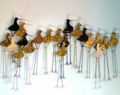 RESERVED for Jan -- Rare Curtis Jere Enameled Sandpiper Wall Sculpture