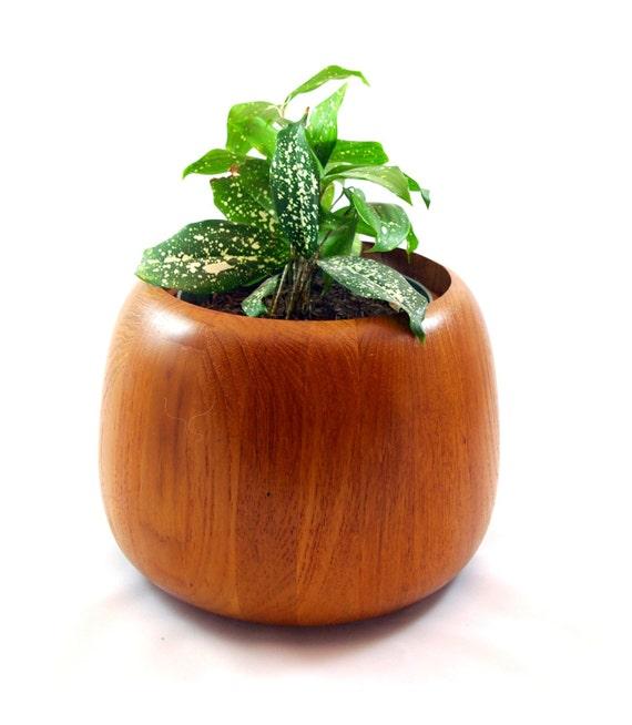 Dansk of Denmark IHQ Teak Ice Bucket Planter Salad Bowl
