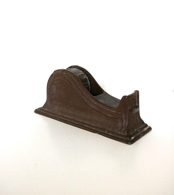 Antique Tape Dispenser - Cast Iron -  By the Texcel Company - Art Deco