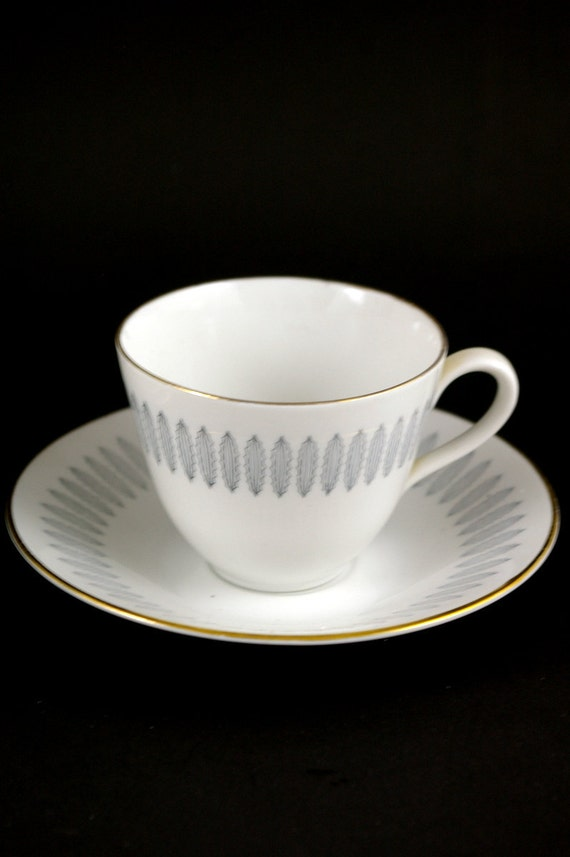 Four Rorstrand Cups and Saucers - Made in Sweden