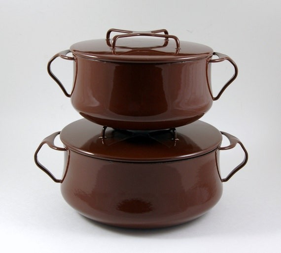 Reserved fro JB Erickson: Dansk Kobenstyle Large Dutch Oven in Brown - Made in Denmark - Designed by Jens Quistgaard IHQ