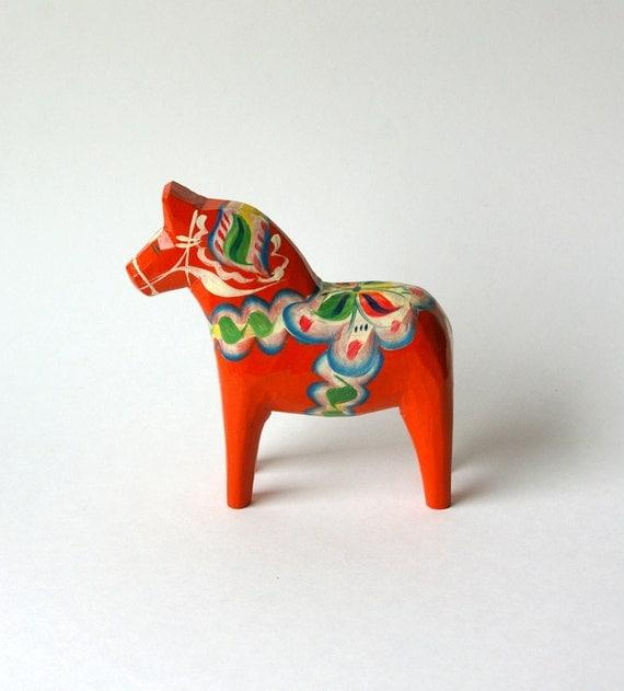Vintage Swedish Red Dala Horse