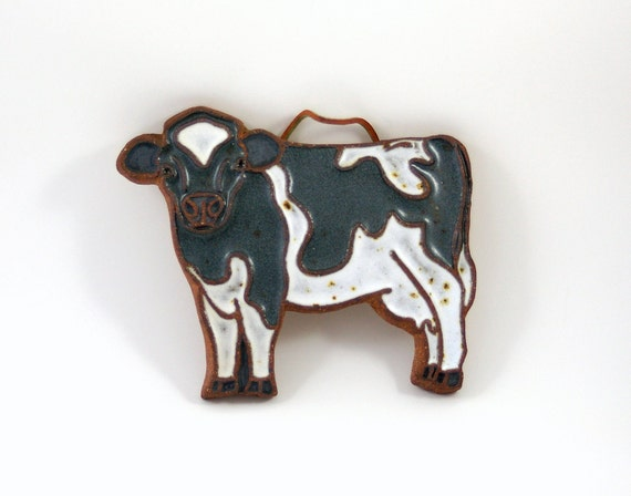 Victoria Littlejohn Holstein Cow Trivet or Wall Plaque