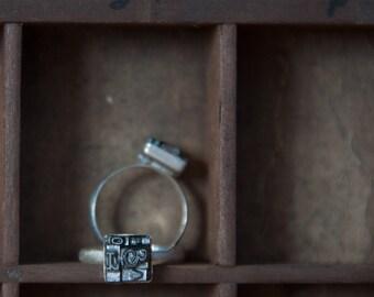 Letterpress Type Ring