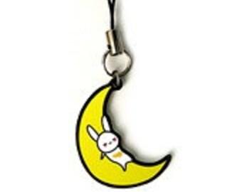 Rabbit on the Moon Phone Charm