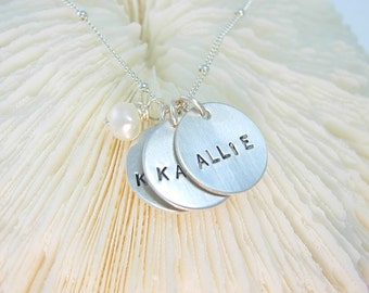 Hand Stamped Jewelry - Personalized handstamped necklace